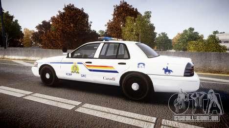 Ford Crown Victoria Canada Police [ELS] para GTA 4 esquerda vista