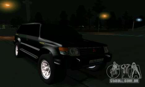 Mitsubishi Pajero Intercooler Turbo 2800 para GTA San Andreas vista inferior
