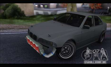 BMW e39 Drag Version para GTA San Andreas