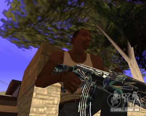 Blue Chrome Weapon Pack para GTA San Andreas sétima tela