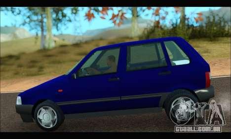 Zastava Yugo Uno para GTA San Andreas traseira esquerda vista