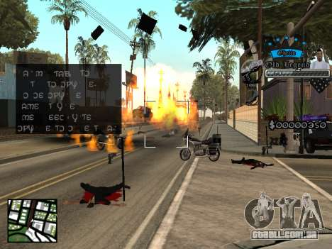 C-HUD Old Legend para GTA San Andreas terceira tela