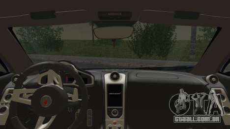 McLaren MP4-12C Gawai v1.5 HQ interior para GTA San Andreas traseira esquerda vista