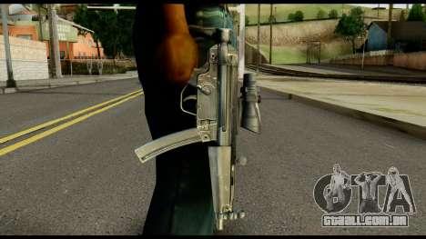 MP5 from Max Payne para GTA San Andreas terceira tela