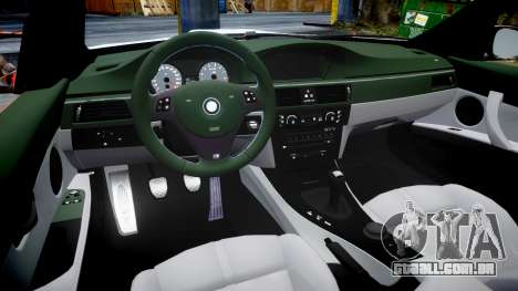 BMW E92 M3 LibertyWalk para GTA 4 vista interior