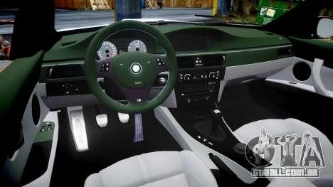BMW E92 M3 LibertyWalk para GTA 4 vista interior