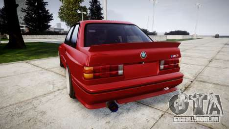 BMW E30 M3 para GTA 4 traseira esquerda vista