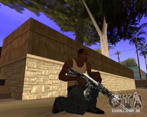 Blue Chrome Weapon Pack para GTA San Andreas sexta tela