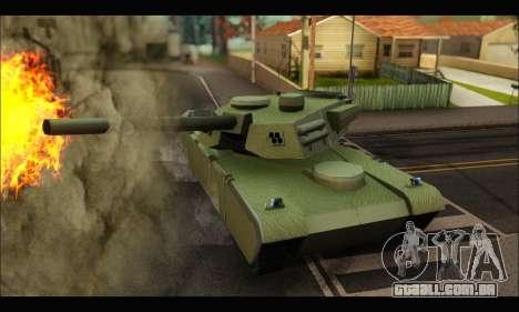 Retextured Rhino Tank para GTA San Andreas traseira esquerda vista