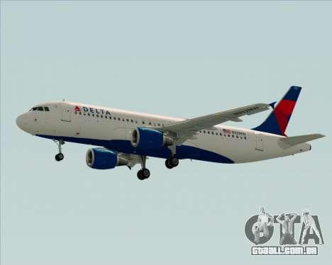 Airbus  A320-200 Delta Airlines para vista lateral GTA San Andreas