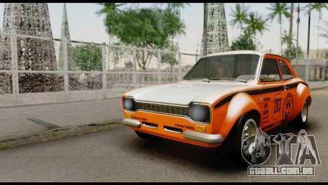 Ford Escort Mark 1 1970 para GTA San Andreas vista inferior
