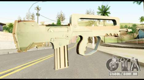 Famas from Metal Gear Solid para GTA San Andreas segunda tela