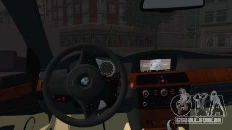 BMW M5 E60 Georgia Police para GTA San Andreas traseira esquerda vista