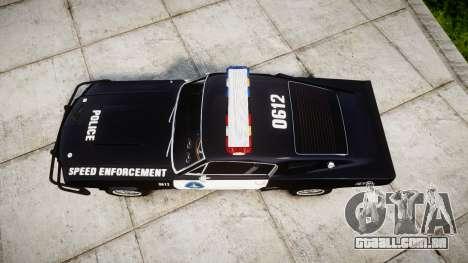 Ford Shelby GT500 Eleanor Police [ELS] para GTA 4 vista direita