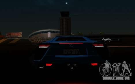 Lexus LF-A 2010 para GTA San Andreas interior