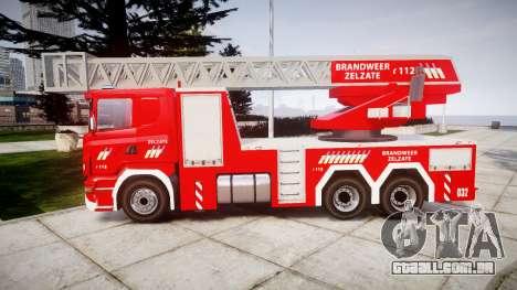Scania R580 Belgian Fireladder [ELS] para GTA 4 esquerda vista