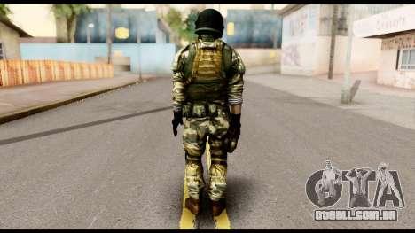Support Troop from Battlefield 4 v1 para GTA San Andreas segunda tela