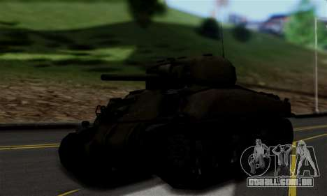 M4 Sherman para GTA San Andreas esquerda vista