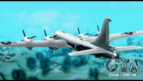 B-29 Superfortress para GTA San Andreas esquerda vista