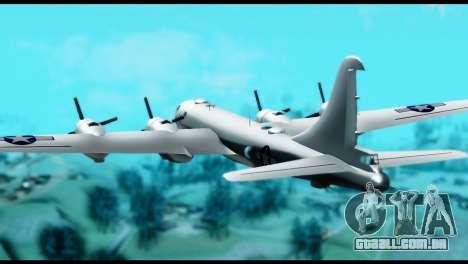 B-29 Superfortress para GTA San Andreas esquerda vista