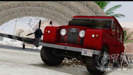 Land Rover Series IIa LWB Wagon 1962-1971 para vista lateral GTA San Andreas