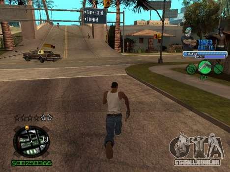 С-Hud Tawer-Gueto v1.6 Clássico para GTA San Andreas sexta tela