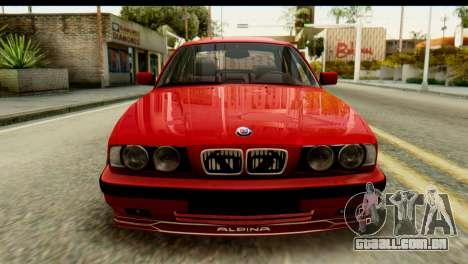 BMW M5 E34 Alpina para GTA San Andreas vista traseira