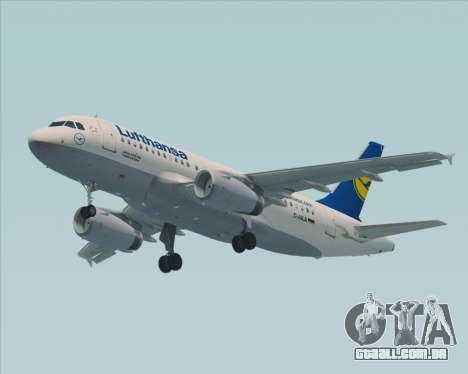 Airbus A319-100 Lufthansa para GTA San Andreas vista traseira