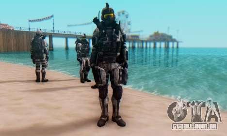 C.E.L.L. Soldier (Crysis 2) para GTA San Andreas por diante tela