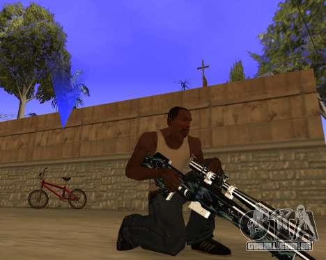 Blue Chrome Weapon Pack para GTA San Andreas por diante tela