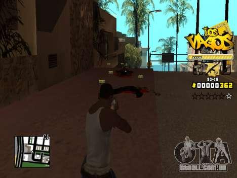 C-HUD Los Santos Vagos Gang para GTA San Andreas por diante tela