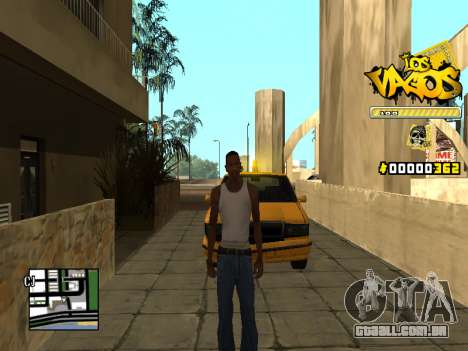 C-HUD Los Santos Vagos Gang para GTA San Andreas segunda tela