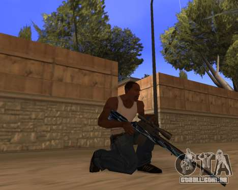 Blue Chrome Weapon Pack para GTA San Andreas segunda tela