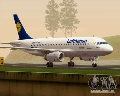 Airbus A319-100 Lufthansa para GTA San Andreas vista interior