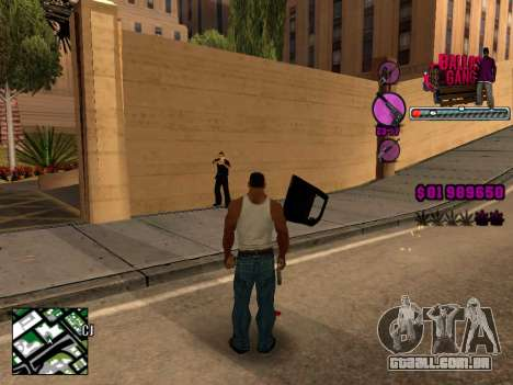 C-HUD Ballas TAWER para GTA San Andreas terceira tela