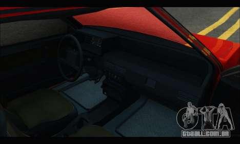 VAZ 2108 para GTA San Andreas vista traseira