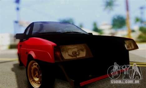 VAZ 2108 Hobo para GTA San Andreas vista traseira