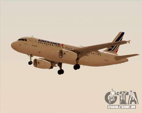 Airbus A319-100 Air France para GTA San Andreas vista direita