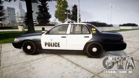 Ford Crown Victoria Ontario Police [ELS] para GTA 4 esquerda vista
