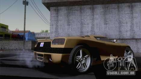GTA V Overflod Entity XF v.2 (IVF) para GTA San Andreas traseira esquerda vista