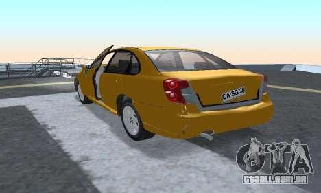 Chevrolet Lacetti para GTA San Andreas vista traseira