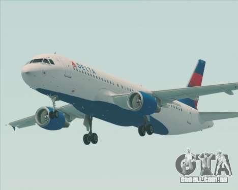 Airbus  A320-200 Delta Airlines para GTA San Andreas vista direita