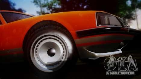 GTA 5 Lampadati Pigalle SA Plate para GTA San Andreas traseira esquerda vista