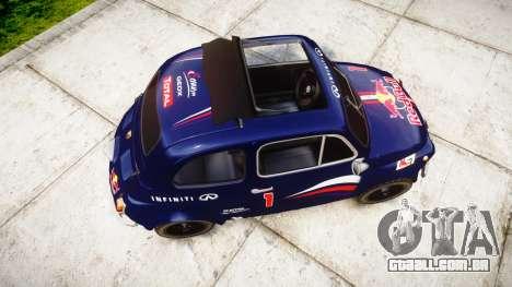 Fiat 695 Abarth SS Assetto Corse 1970 Red Bull para GTA 4 vista direita