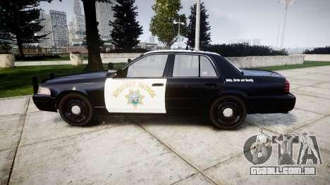 Ford Crown Victoria Highway Patrol [ELS] Slickto para GTA 4 esquerda vista