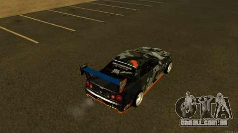 Nissan Skyline R34 FAIL CREW 2014 para GTA San Andreas traseira esquerda vista