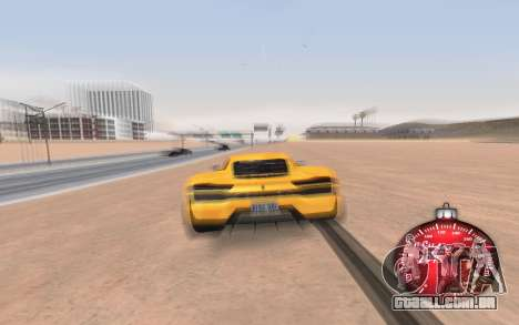 Natal velocímetro 2015 para GTA San Andreas terceira tela