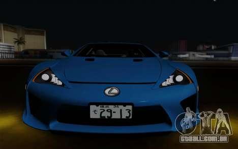 Lexus LF-A 2010 para GTA San Andreas vista interior