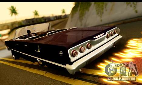 Chevrolet Impala 1963 para GTA San Andreas vista traseira