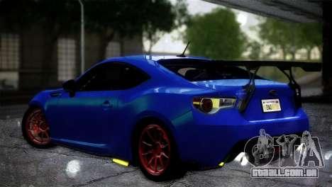 Subaru BRZ Drift Built para GTA San Andreas esquerda vista